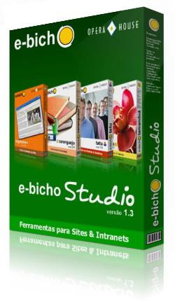 ebichoStudio versão 1.3: ferramentas e interatividade para sites e intranets