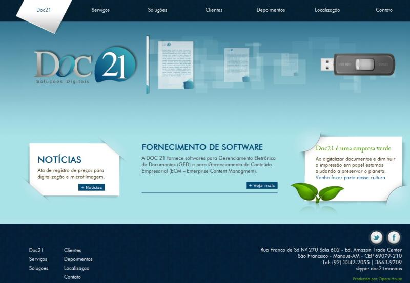 Site Doc 21 - Digitalização de documentos