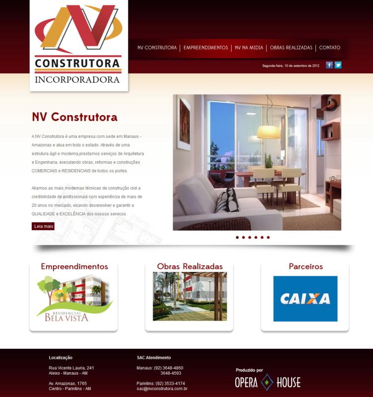 Site NV Construtora