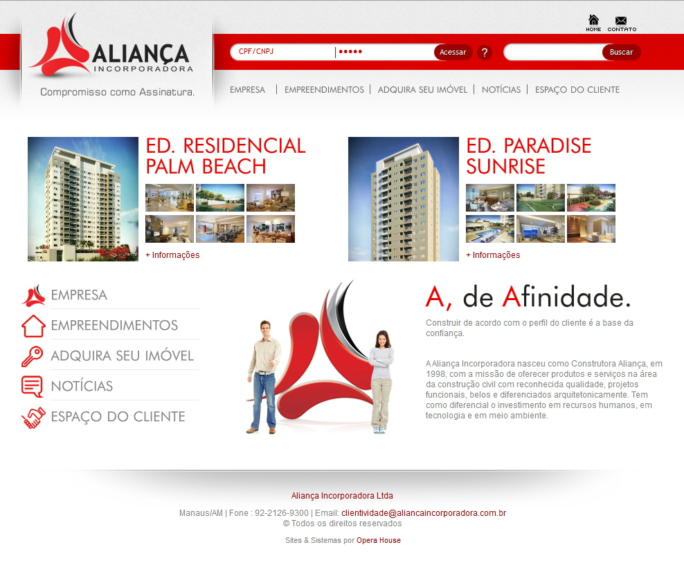 Site Aliança Incorporadora