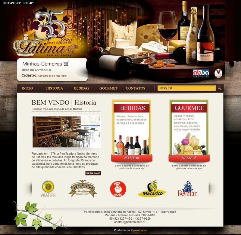 PFATIMA.COM.BR - site e e-commerce